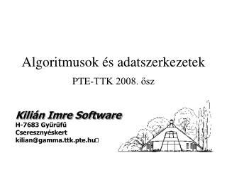 Algoritmusok és adatszerkezetek