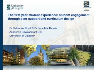 The first year student experience: student engagement through peer support and curriculum design