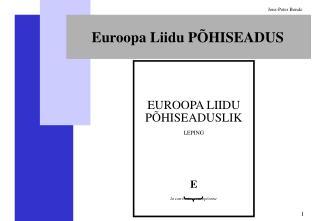 Euroopa Liidu PÕHISEADUS