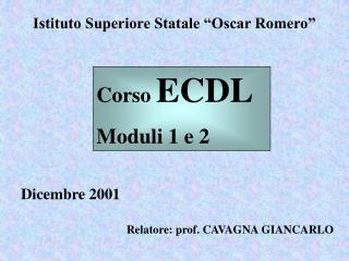 "Istituto Superiore Statale ""Oscar Romero"""