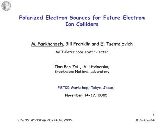 Polarized Electron Sources for Future Electron Ion Colliders