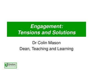 Engagement:  Tensions and Solutions