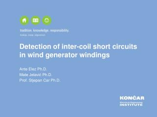 Detection of inter-coil short circuits in wind generator windings