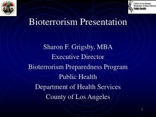 Bioterrorism Presentation
