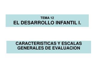 TEMA 12 EL DESARROLLO INFANTIL I.