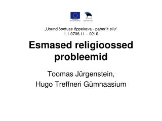Esmased religioossed probleemid