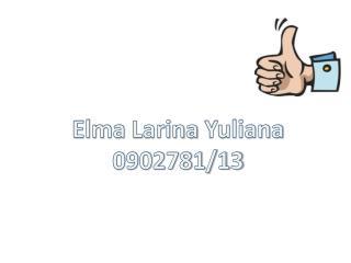 Elma  Larina Yuliana 0902781/13