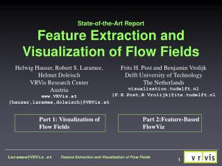 State-of-the-Art Report Feature Extraction and Visualization of Flow Fields