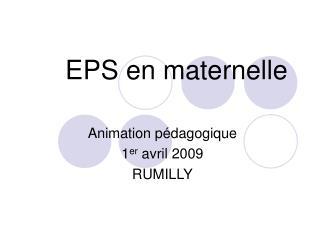 EPS en maternelle
