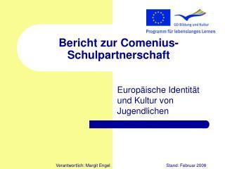 Bericht zur Comenius-Schulpartnerschaft