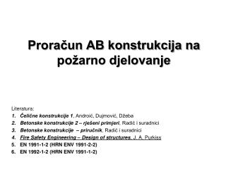 Proracun AB konstrukcija na  po arno djelovanje