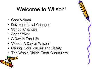 Welcome to Wilson!