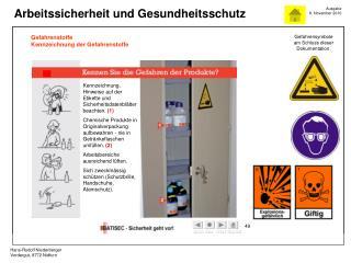 Gefahrenstoffe Kennzeichnung der Gefahrenstoffe