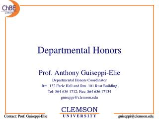 Departmental Honors