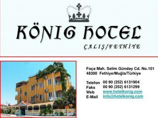 Fo�a Mah.�Selim G�nday Cd.�No.101 48300� Fethiye/Mu?la/T�rkiye
