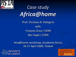 Case study Africa@home