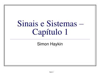 Sinais e Sistemas � Cap�tulo 1