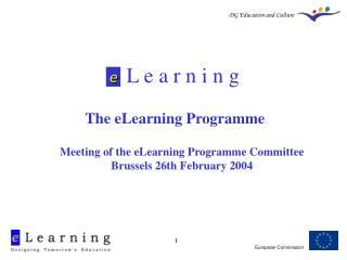 L e a r n i n g The eLearning Programme
