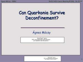Can Quarkonia Survive Deconfinement?