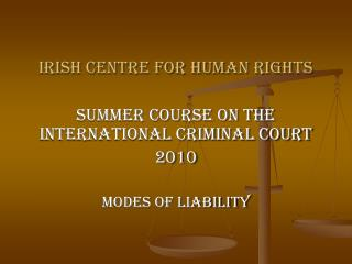 Irish Centre for Human Rights