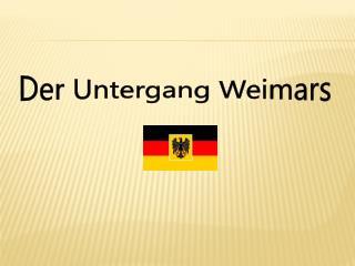 Der Untergang Weimars