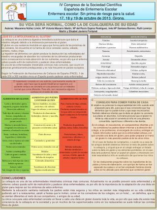 IV Congreso de la Sociedad Científica  Española de Enfermería Escolar
