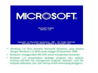 Windows  versi  2 pun  muncul kemudian tahun  1987 .