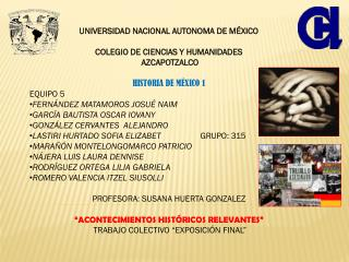 UNIVERSIDAD NACIONAL AUTONOMA DE MÉXICO COLEGIO DE CIENCIAS Y HUMANIDADES  AZCAPOTZALCO