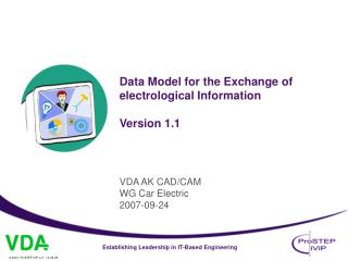 Data Model for the Exchange of electrological Information Version 1.1