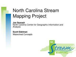 North Carolina Stream Mapping Project