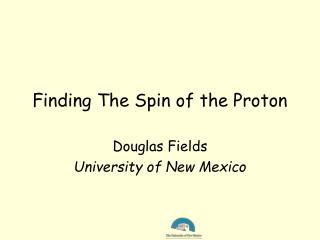 Finding The Spin of the Proton
