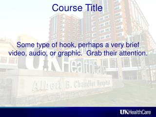 Some type of hook, perhaps a very brief video, audio, or graphic.  Grab their attention.