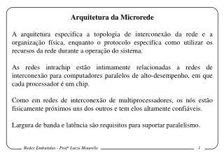 Arquitetura da Microrede