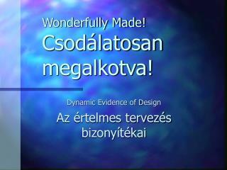 Wonderfully Made! Csodálatosan megalkotva!