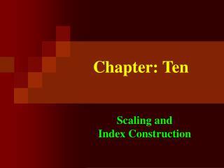 Chapter: Ten