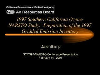 1997 Southern California Ozone-NARSTO Study:  Preparation of the 1997 Gridded Emission Inventory