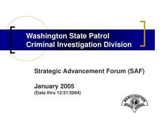 Washington State Patrol Criminal Investigation Division