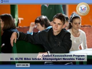 Családi Kasszasikerek Program XI. ELTE Bibó István Állampolgári Nevelés Tábor