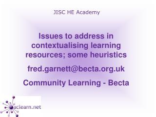 JISC HE Academy
