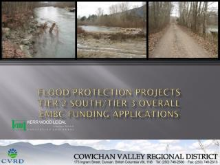 Flood Protection Projects Tier 2 South/Tier  3 overall EMBC funding applications