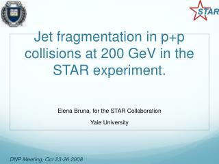 Jet fragmentation in p+p collisions at 200 GeV in the STAR experiment.