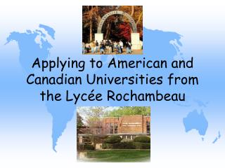 Applying to American and Canadian Universities from the Lycée Rochambeau