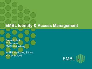 EMBL Identity & Access Management