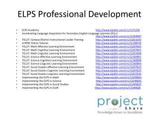 ELPS Professional Development