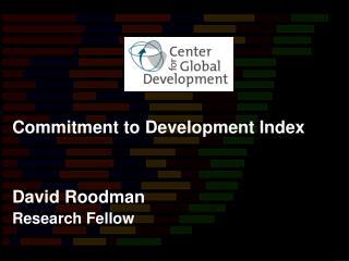 David Roodman Research Fellow