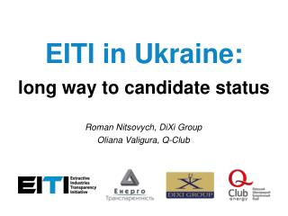 EITI in Ukraine: