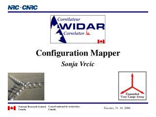 Configuration Mapper  Sonja Vrcic
