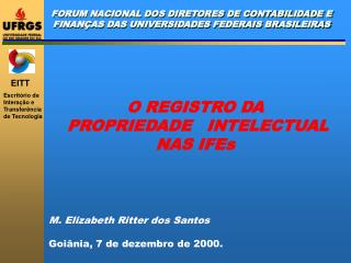 FORUM NACIONAL DOS DIRETORES DE CONTABILIDADE E FINANÇAS DAS UNIVERSIDADES FEDERAIS BRASILEIRAS