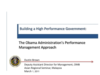 Building a High Performance Government