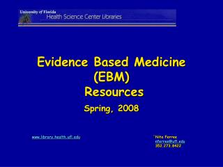 Evidence Based Medicine (EBM)  Resources